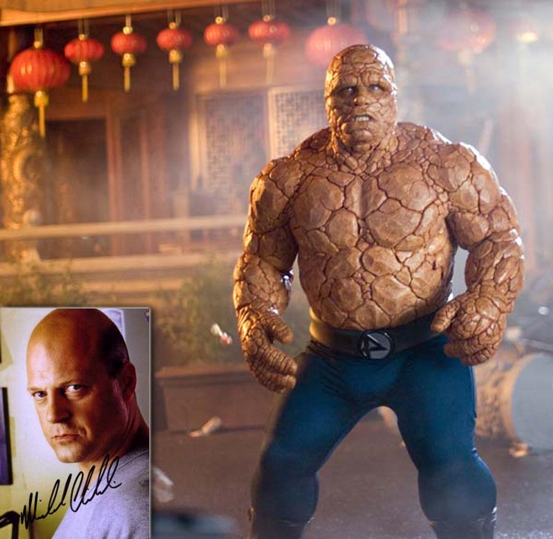 Movie monsters in real life Michael Chiklis The Thing Makeup