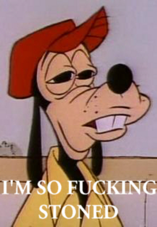 Goofy high on weed