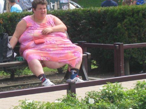 Fat Woman On 45